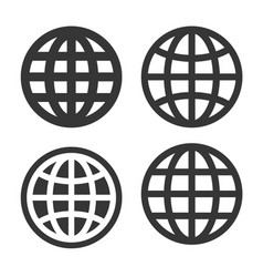 world globe icons set on white background vector image