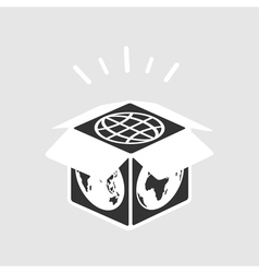 World in a box vector image