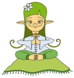 Yoga elf vector