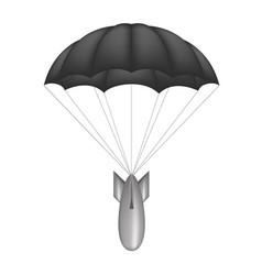bomb at black parachute vector image