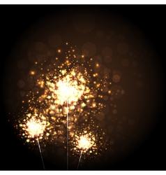 Christmas Sparkler vector image