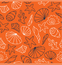 contour drawings of shells vector image vector image
