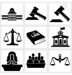 Court icon vector