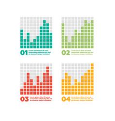 Infographics elements progress bar vector