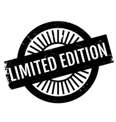Limited edition stamp vector image