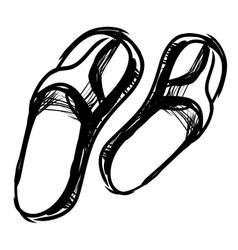 Thongs sketch vector image