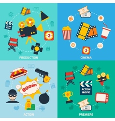 Action movie composition vector image vector image