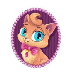 cute kitty portrait vector image