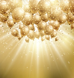 gold balloons background 1907 vector image vector image