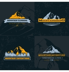Mountain Emblem Template Set vector image vector image