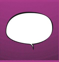 oval speech bubble retro style vector image
