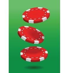 Poker chip vector image