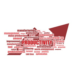 productivity related words vector image