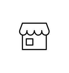 line store icon on white background vector image