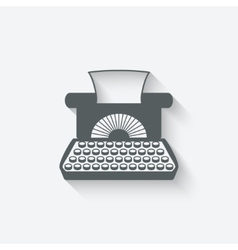 retro typewriter design element vector image