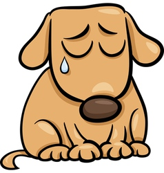 sad dog cartoon vector image