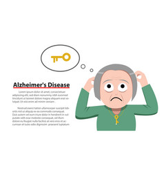 Alzheimers disease in old woman vector