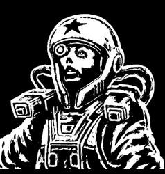 astronaut heroine in space suit vector image vector image