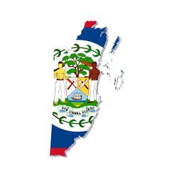 Belize flag amp map vector