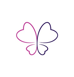 Butterfly outlines logo vector image