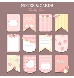 Note papers and stickers set vector