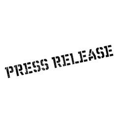 Press release stamp vector image