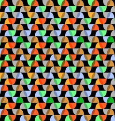 Retro colorful geometric seamless pattern on black vector image vector image