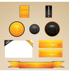Web site design navigation vector image