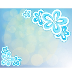 A blue-colored stationery vector image