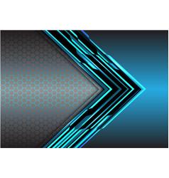 abstract blue arrow light digital metallic vector image