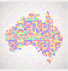 Abstract map of australia colorful dots vector