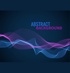 abstract wave background graphic line sonic vector image
