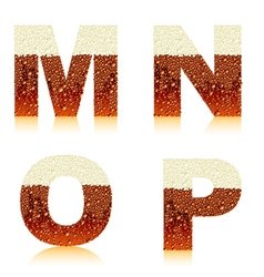 alphabet dark beer mnop vector image