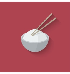 Asian food design element vector image