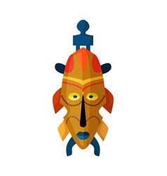 Aztec or inca warrior carved mask isolated vector