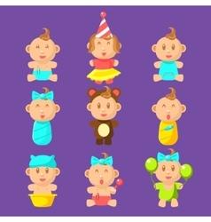 Babies An Toddles Sticker Set vector