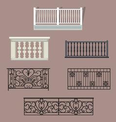 Balcony Railing vector image