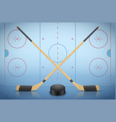 banner template of ice hockey vector image