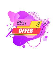 best offer sale liquid sticker or label vector image