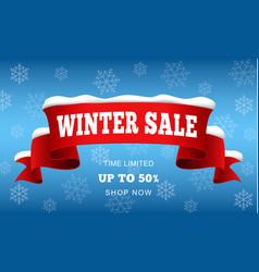 Big winter sale concept background realistic vector