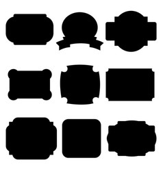 black labels badges vector image