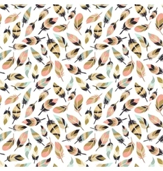 Boho style feather seamless pattern vector