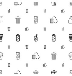 Can icons pattern seamless white background vector