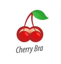 Cherry bra logo isolated on vector