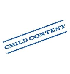 Child content watermark stamp vector