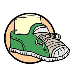 child shoe vector image