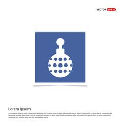 christmas ball icon - blue photo frame vector image