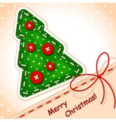 christmas card christmas tree vector image vector image