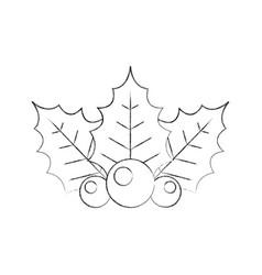 Christmas decorative leaf icon vector