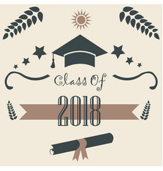 Class of 2018 graduation theme vector